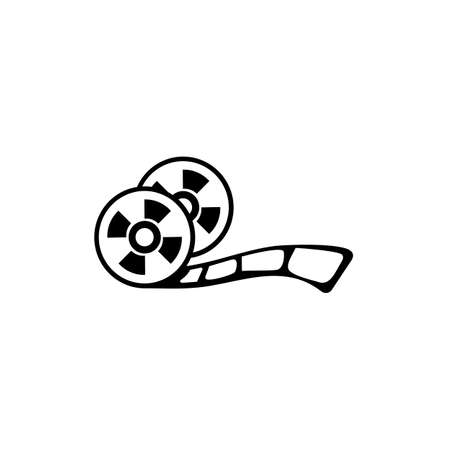 Reel film symbol icon. movie film cinema vector design illustration