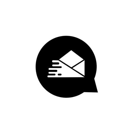 Message Icon, Flat message icon, Sms vector icon. vector illustration on white background.