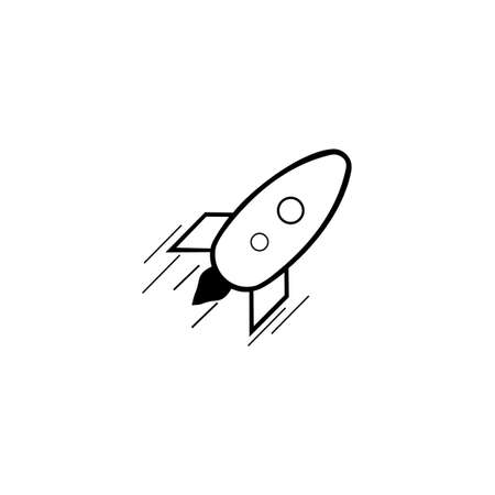rocket logo icon vector template, elements, icons, symbols, abstract, set, shapes, innovative and creative inspiration for business company, and marketing promotions with Flat Style