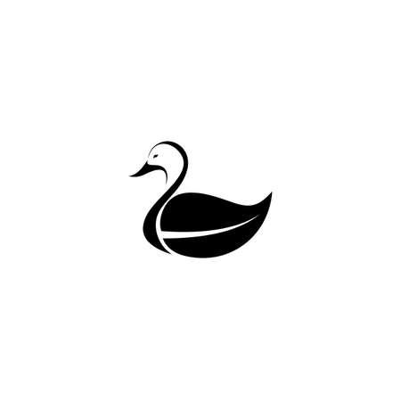 Duck icon. Flat style trend modern logotype design vector illustration.