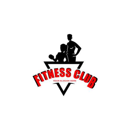 fitness vector logo design isolated on white, vector illustration 向量圖像
