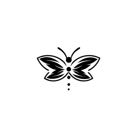 butterfly icon. silhouette, beautiful butterfly, isolated on a white. 向量圖像