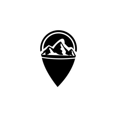 Outdoor design template.Mountaineering, Hunting. Outdoor recreation, adventure in the mountains.