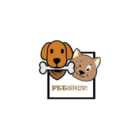 PetShop Logo. can use animal clinics, petshop and veterinarian. 向量圖像