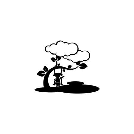 Kids playground. Logo isolated white background