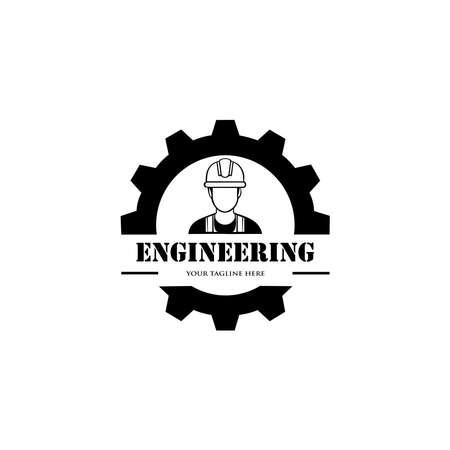 Mechanical Engineer Logo. logo and identity designs. 向量圖像