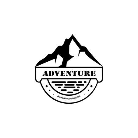 Outdoor logo design template.Mountaineering, Hunting. Outdoor recreation, adventure in the mountains. 向量圖像