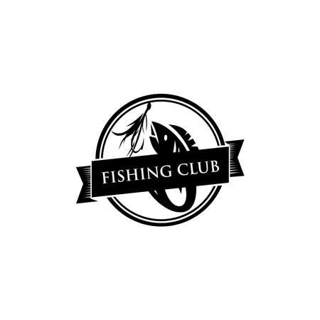 Fishing logo template. Sport fishing Logo. 向量圖像