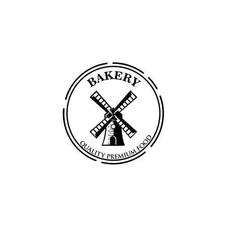 Bread basket logo - vector illustration. Bakery emblem design, Icon or symbol for design menu restaurant, cooking club, food studio or home cooking. 向量圖像