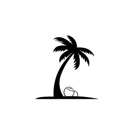 coconut logo template design vector. icon isolated on white background. 向量圖像