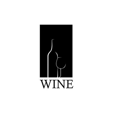 Wine icon symbol, Emblem design on white background