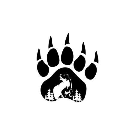 Bear logo. emblem design on white background 向量圖像