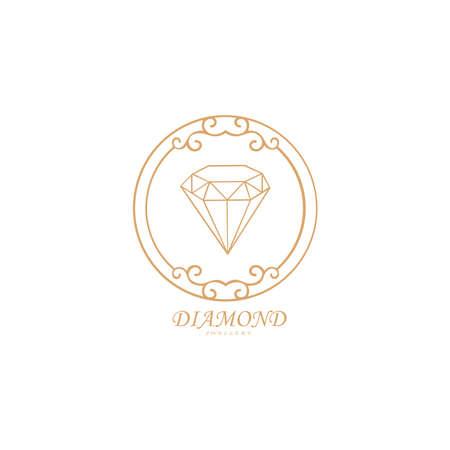 Diamond Jewellery Logo Design Vector Template. Label or Badge Vector design element, business sign template.