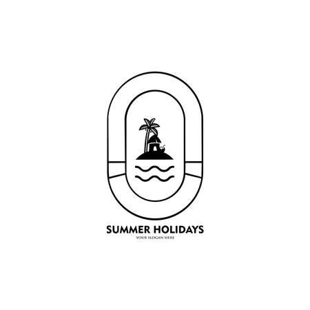 Summer  design. Season vocation, weekend, holiday  . 向量圖像