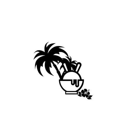Ice Cream Logo Design end elements for ice cream shop. Vector illustration