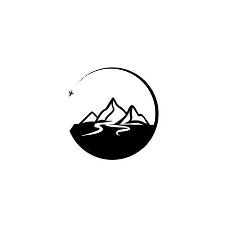 Travel logo. Adventure logo. for greeting cards, posters and t-shirts printing.