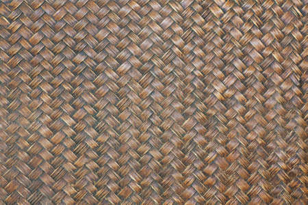 Woven bamboo background pattern Old condition, dusty, build-up from regular used to support dirty things.
