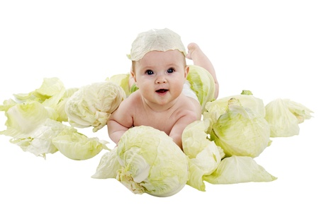 baby in the cabbage