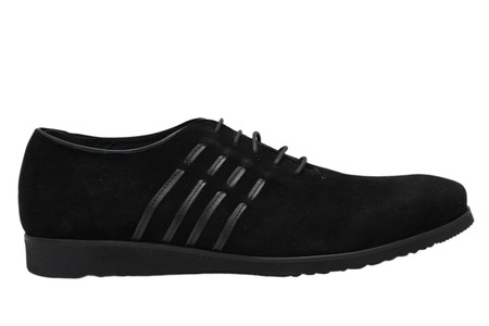 black mens sports shoes over white background photo