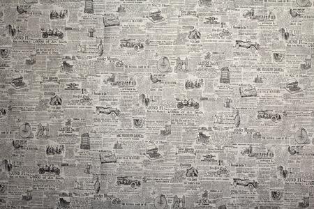 ヴィンテージのトランスポートは、バック グラウンドを持つ新聞の壁紙