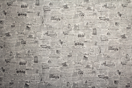 old english: Wallpaper of newspaper with vintage transport, background