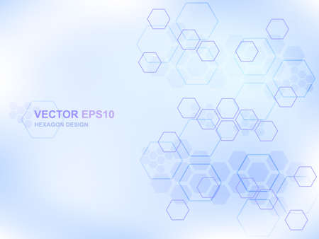 Futuristic modern hi-tech background. Technology hexagon concept background for digital technology, science, research and innovation medicine. Vector illustration EPS10.