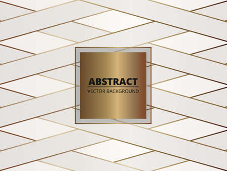 Gold and white luxury art deco abstract background. Vector background can be used in card, pattern, cover design, flyer, book design, poster, website backgrounds, wallpaper, banner for advertising. Illusztráció