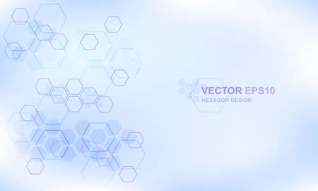Technology hexagon concept medical background. Hi-tech futuristic modern background for digital technology, research, science, innovation medicine and health. Vector illustration EPS10. Vector Illustration
