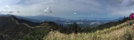 Een panorama van Noord-Taiwan