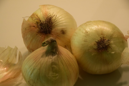 lacrimal: An arrangement of onions Stock Photo