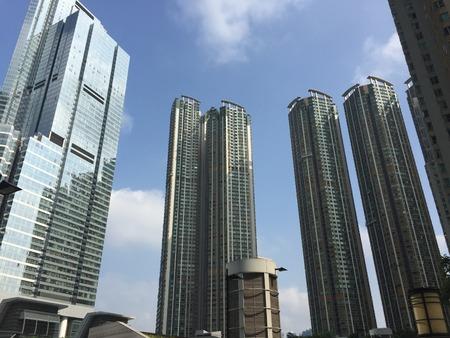 Een zicht op Hong Kong Stockfoto