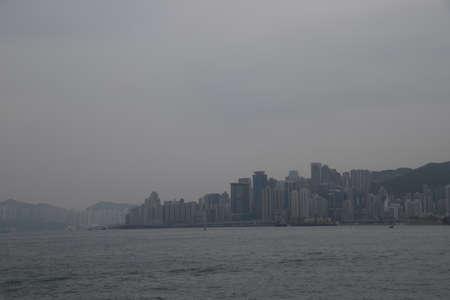 香港的景色。