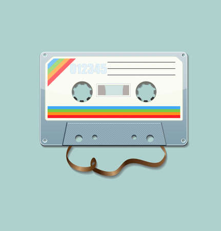 portable audio: Vector tape Illustration