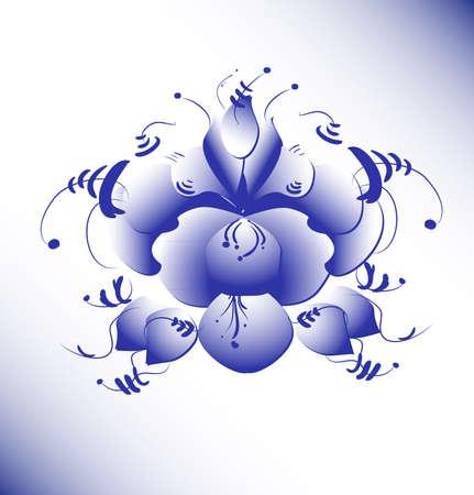 russian tradition: Vector ghzel illustration