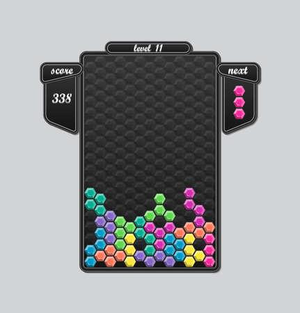 tetris: Vector tetris block game interface