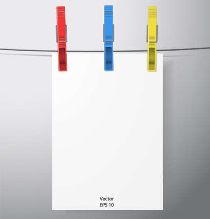 clothespin: Vector clothespin Illustration