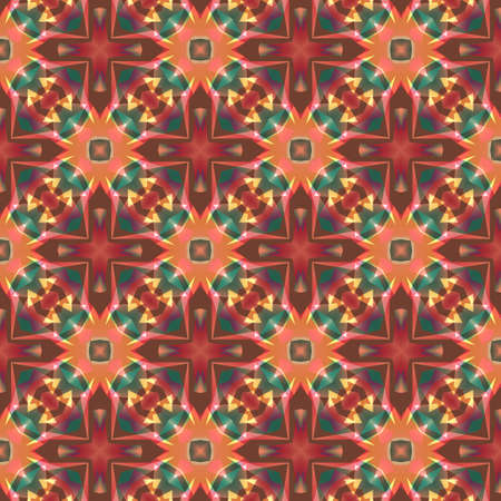 Seamless kaleidoscopic background Vector