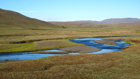 Arctic Tundra, Iceland Stock Photo