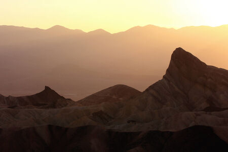 sunset at Zabriski Point, Death Valley National Park, California photo