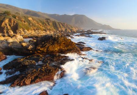 monterey: Big Sur shoreline, Garrapata State Park, central California, USA Stock Photo