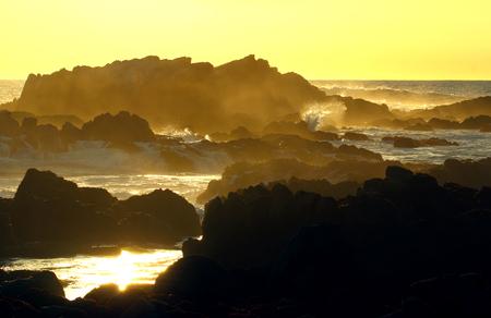 アメリカ合衆国モントレー近くのアシロマーステートビーチの夕日
