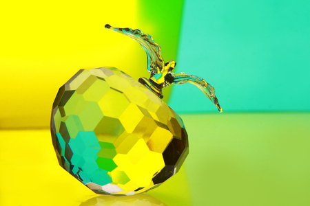 facets: glass apple Stock Photo