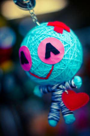 keychain: Keychain toy made from yarn