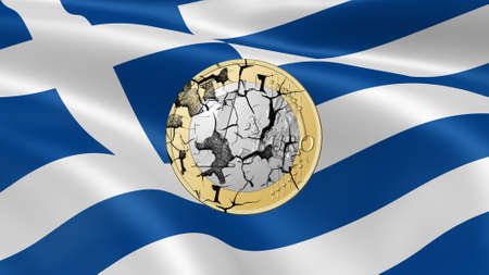 financial crisis: greek euro broken