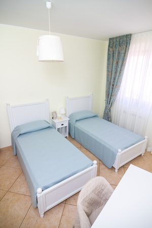 double room: double room in white style with separate beds
