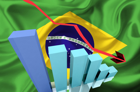 stock price: brazil stock markets go down, drop, and loose money
