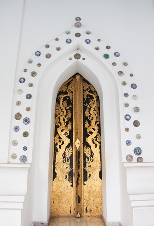 The door of thai temple