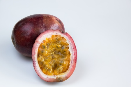 passion fruit purple  Stock Photo