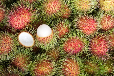 Fresh Rambutan, tropical fruits Stock Photo