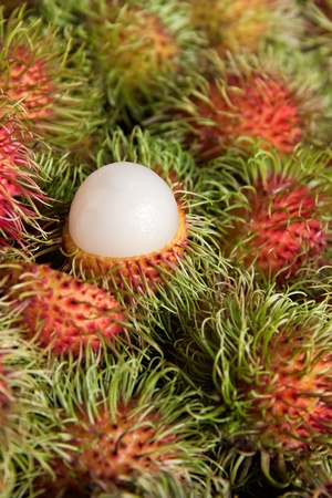 Rambutan vertical, tropical fruits